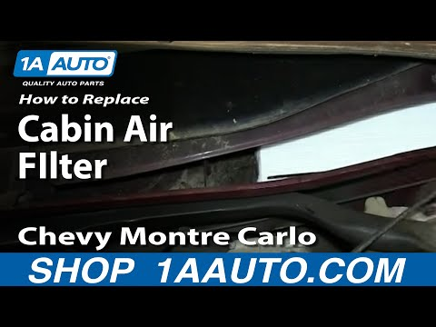 How To Install Replace Cabin Dust Pollen Air FIlter 2000-05 Chevy Monte Carlo