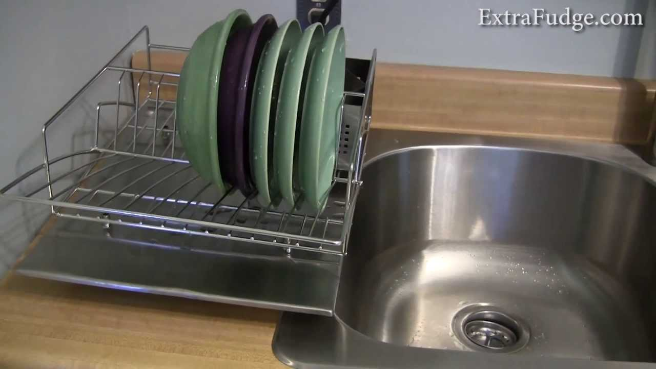 zojila 39 rohan 39 dish rack drainer utensil holder and drain board review youtube. Black Bedroom Furniture Sets. Home Design Ideas