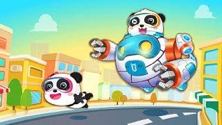 Baby Panda Robot   Care for Environment   Kids Animation   BabyBus Game