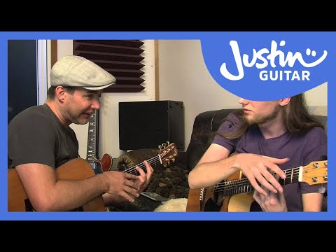 Mike Dawes teaches Justin how to play Boogie Shred (Guitar Lesson MA-209)