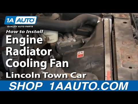 How To Install Repair Replace Engine Radiator Cooling Fan Lincoln Town Car 00-02