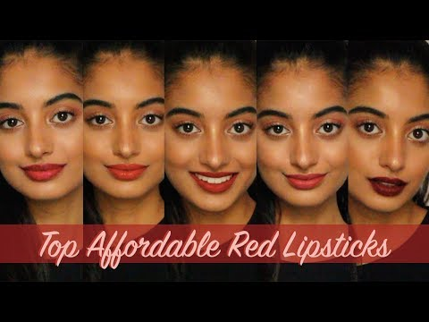 THE BEST AFFORDABLE RED LIPSTICKS for Indian/Asian/Warm Skin Tones