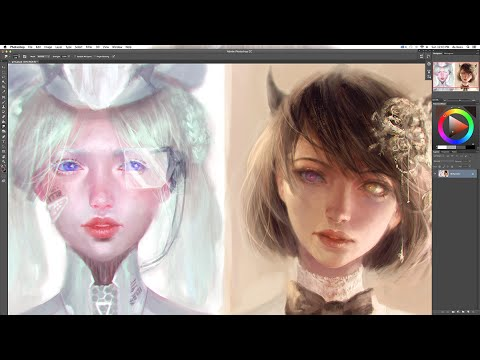 PS Speedpaint : Girl Portraits