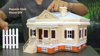 🏡 How to Make Popsicle Stick House 🏡 DIY Country Style Cottage Building