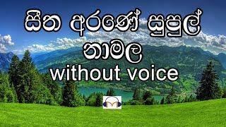 Seetha Arane Supul Namala Karaoke (without voice) සීත අරණේ සුපුල් නා මල