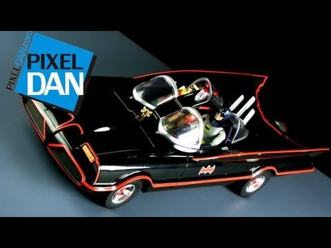 Mattel Batman Classic TV Series 60's Batmobile Video Review
