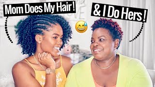 Mom Does My Hair & I Do Hers! | Our Hair Story