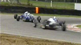 Teammates collide Formula Ford at Brands Hatch 2004