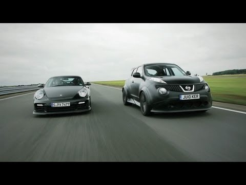 Showdown - Nissan Juke-R vs. Porsche 911 GT2 RS - CAR and DRIVER