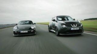 Showdown - Nissan Juke-R vs. Porsche 911 GT2 RS - CAR and DRIVER