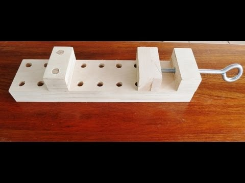 Make a wooden clamp, effective and simple to make.