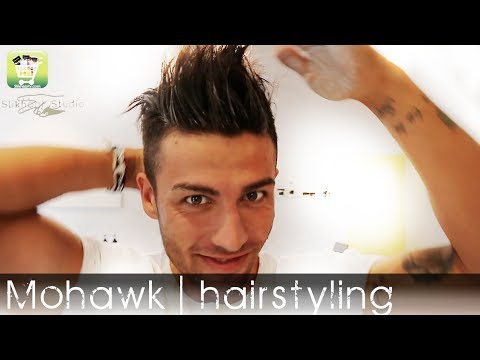 Mens hairstyle 2014 | Celebrity Mohawk | Permanent straight hair