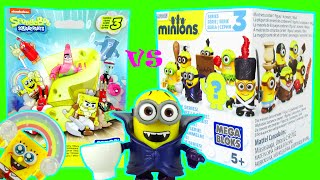 Surprise Minions vs Spongebob Blind Bags Toy Review Unboxing Series 3 New 2015 Toys