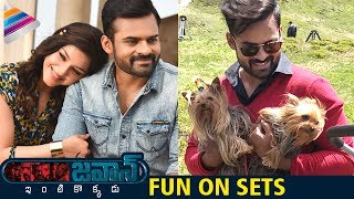 Sai Dharam Tej Jawaan Movie Fun On Sets | Mehreen | S Thaman | #Jawaan | Dil Raju | Telugu Filmnagar