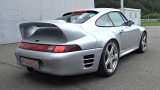 Ultra-Rare 1997 RUF CTR2 Goes Drag Racing on an Airstrip! - 3.6 Air-Cooled Twin Turbo Engine Sound!