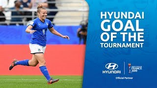 Aurora GALLI – HYUNDAI GOAL OF THE TOURNAMENT – NOMINEE