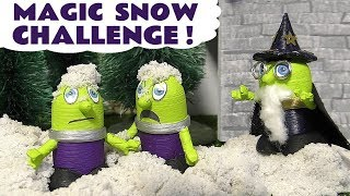 Funny Funlings Kinetic Sand Magic Snow Challenge with Thomas The Tank Engine Fun Play TT4U