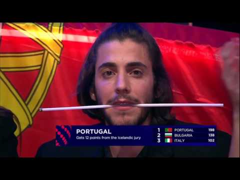 Eurovision 2017 Final - Every 12 / Douze Points awarded plus reactions