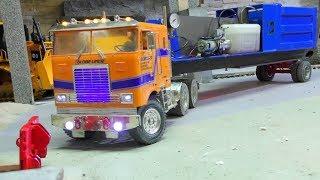 Heavy Hydraulic Press Transport! Strong RC Vehicles at Work! Tamiya Globe Liner 6x6