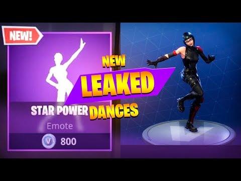 *NEW* Fortnite Season 4 LEAKED DANCES IN GAME! (STAR POWER, ZANY, TAKE 14, DIP, SNAP)
