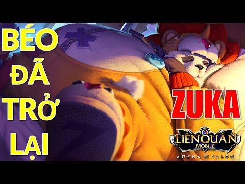 ZUKA Mùa 7 đã trở lại và lợi hại hơn xưa - Cách lên đồ gấu béo mùa 7 Liên quân leo rank hiệu quả