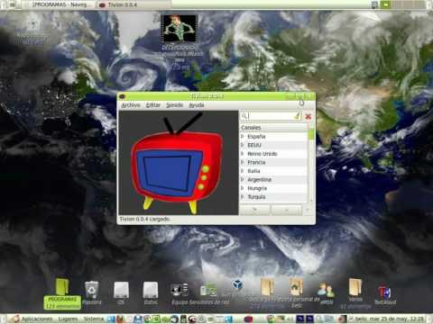 Programas ver Televisión, escuchar la radio por internet Vlc Tivion Ubuntuwin SopCast Player.