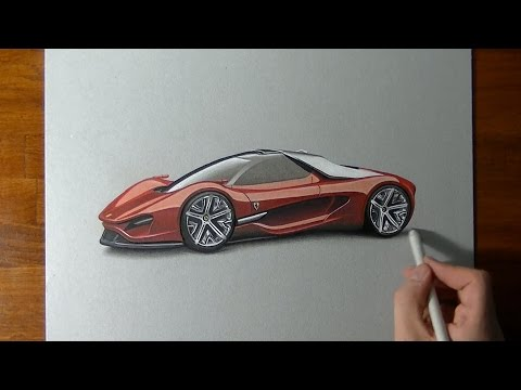 Drawing and coloring an amazing Ferrari Xezri