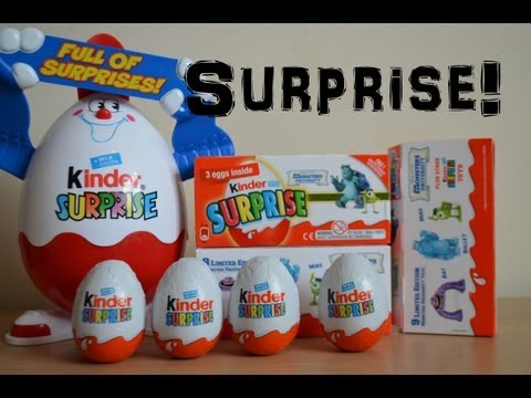 Disney Monsters University Kinder Surprise Eggs Natoons Toy Opening (HD)
