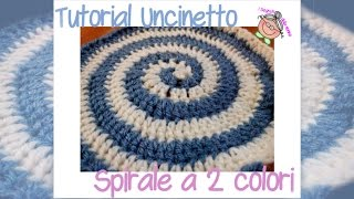 Tutorial Uncinetto: come si fa una spirale a 2 colori