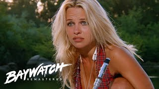 Pamela Anderson's First Ever Scene On Baywatch Introducing CJ | Baywatch Remastered