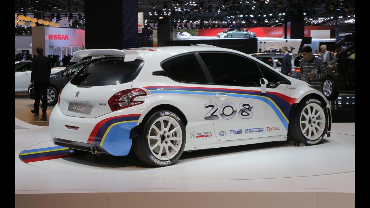 peugeot 208 r5 rally car - 2012 paris auto show