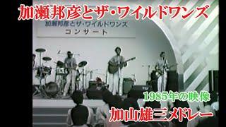 貴重映像・加瀬邦彦&ザ・ワイルドワンズ~ 加山雄三メドレー1985年