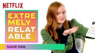 Stranger Things' Sadie Sink Gives Break Up Advice | Extremely Relatable | Netflix
