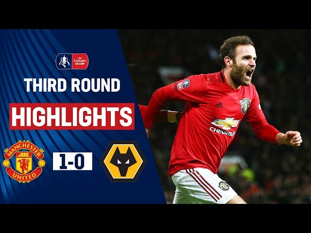 Mata's Cool Finish Puts United Through   Manchester United 1-0 Wolves   Emirates FA Cup 19/20 thumbnail