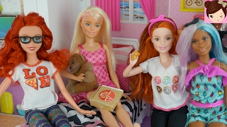 "Frozen Teenagers   "" Sleepover  Fail "" Doll Stories Princess Teen Daughters - Royal High Ep.3"