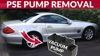 How to remove PSE pump (central locking vacuum pump) - Mercedes SL (R230)