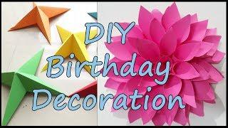 Birthday Decoration Ideas At Home