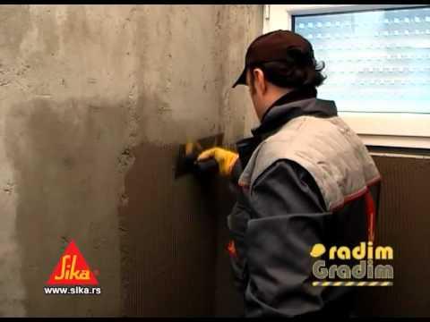 Hidroizolacija kupatila, podruma, temelja, terasa (Sika TopSeal-107 prakticni deo).mp4