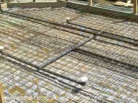Construccion de la piscina parte 1 youtube for Como construir una piscina en concreto