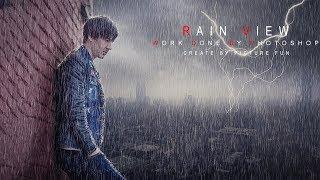Rain view photo manipulation | photoshop tutorial cc