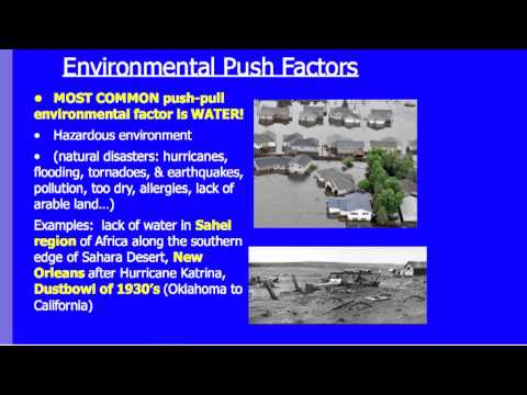 human geography push and pull factors Human geography: landscapes of human activities, 11th edition  an example of a pull factor for migration is: a)  push factors associated with civil wars c.