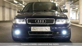 Audi A4 B5 - LED/Xenon kit demonstration Vol2 NEW