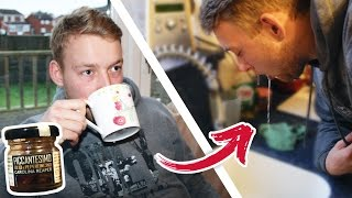 CAROLINA REAPER TEA PRANK ON MY BROTHER *VOMIT WARNING*