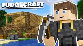 BUILDING MY STARTER HOUSE - Fudgecraft Survival #1 (Minecraft)