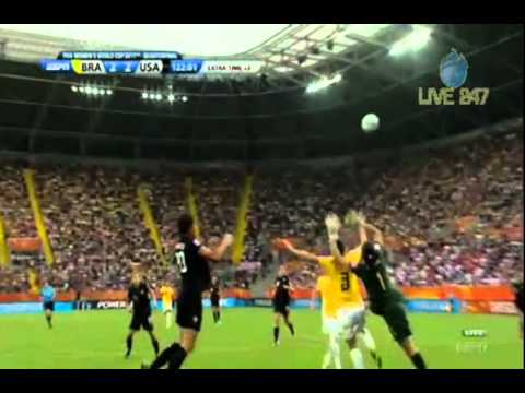 Abby Wambach Goal vs. Brazil in the 122' - 2011 FIFA Women's World Cup