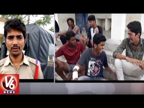 2 Died And 6 Injured As Car Over Turns Near Komuravelli | Siddipet District | V6 News