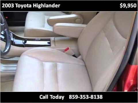 2003 Toyota Highlander Used Cars Berea KY