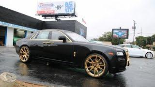 "WhipAddict: Rolls Royce Ghost on gold 24"" F2.01-M Forgiatos, Gold Trim. Aoc Obama"