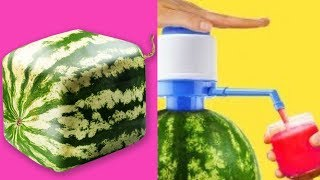 TRYING 15 UNBELIEVABLY EASY WATERMELON  LIFE HACKS By 5 Minute Crafts