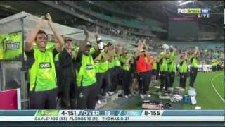 CHRIS GAYLE 100* KFC BIG BASH